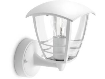 CREEK-Applique dextérieur Montante Métal H20cm Blanc Philips