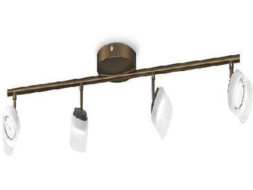 PHILIPS Barre de 4 spots déclairage LED Fremont - Bronze - Ampoules incluses