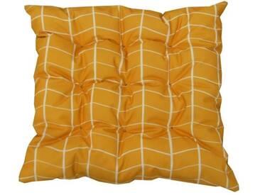 JARDIN PRIVE Galette de chaise 9 points OSLO - 40 x 40 x 5 cm - Jaune Safran