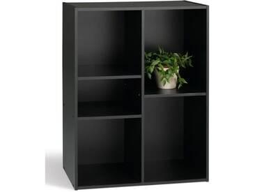 COMPO Meuble de rangement 5 cases noir - L 61 cm
