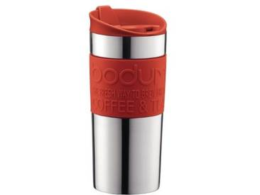 BODUM TRAVEL PRESS Mug à piston en inox double paroi 0.35 l Rouge