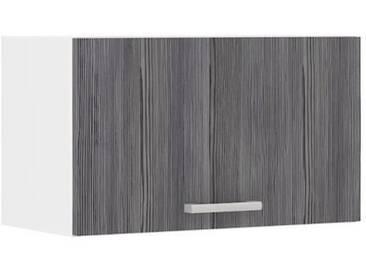 ULTRA Meuble hotte L 60 cm - Décor chêne gris mat