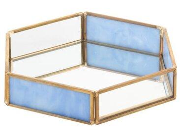 Vide poche déco Homa - Métal et verre - 20x17,5x3,5cm