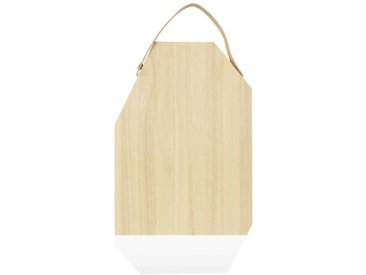 ECO DESIGN A1533 Planche à découper avec manche Dippo en cuir - 30 x 50 cm - Naturel et blanc
