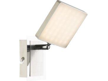 Spot LED en nickel mat 13,5x9,5x14,5cm