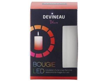 DEVINEAU Bougie Led avec flamme - Rouge et Rose