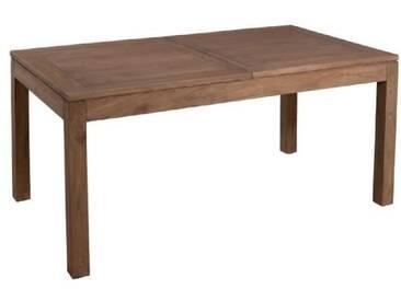 MALAGA Table à manger extensible 6 à 8 personnes - Classique - Mindi cannelle verni - 160-200x90 cm