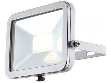 GLOBO LIGHTING Projecteur extérieur aluminium fonte gris métallisé blanc - Verre translucide