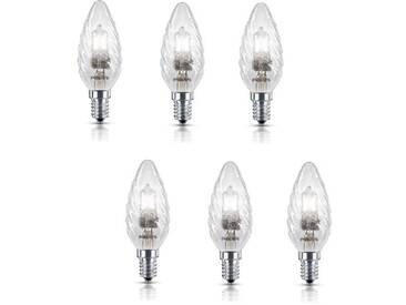 PHILIPS Lot de 6 ampoules Ecohalo E14 42 W équivalent à 55 W