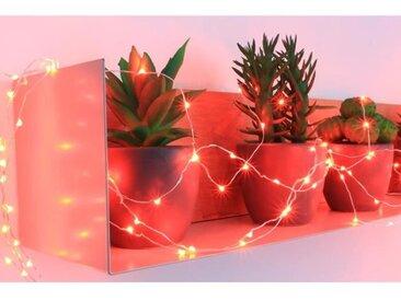 Guirlande micro-LED - 7,5 m - Rouge - 150 LED - 16 fonctions mémoire - Câble argent transparent