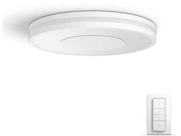 PHILIPS Plafonnier Being HUE - LED - Ø 34,8 x H 5,1 cm - Métal et synthétique - Blanc