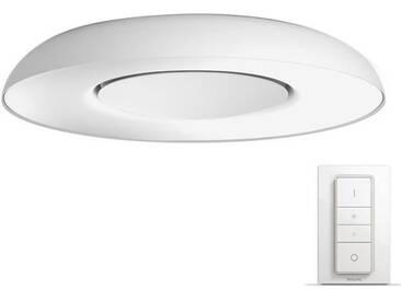 PHILIPS Plafonnier Still HUE - LED - Ø 39,1 x H 7,1 cm - Métal et synthétique - Gris