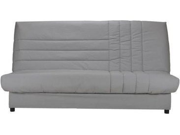 BEIJA Banquette clic-clac 3 places - Comfort BULTEX - L 192 x P 95 cm - Tissu gris
