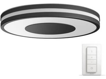 PHILIPS Plafonnier Still HUE - LED - Ø 39,1 x H 7,1 cm - Métal et synthétique - Noir