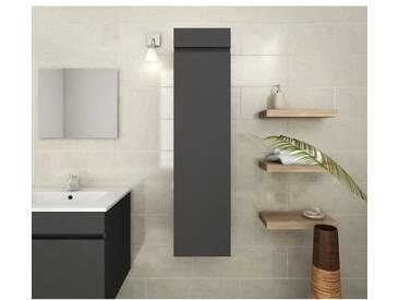 LUNA Colonne de salle de bain L 30 cm - Gris mat