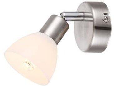 GLOBO Spot nickel mat LED L14 x l7 x h11 cm - Blanc