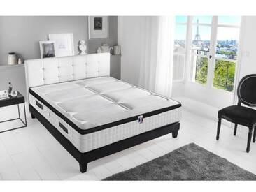 CONFORT DESIGN Matelas 160 x 200 - Ressorts et mousse mémoire - 30 cm - 7 zones - Ferme - HOTEL PALACE