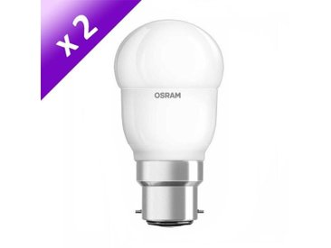 OSRAM Lot de 2 Ampoules LED B22 6 W équivalent à 40 W blanc chaud dimmable variateur