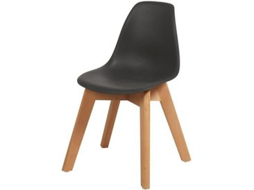 SACHA KIDS Chaise enfant - Pieds en bois hêtre naturel noir - Scandinave - L 31 x P 37 cm