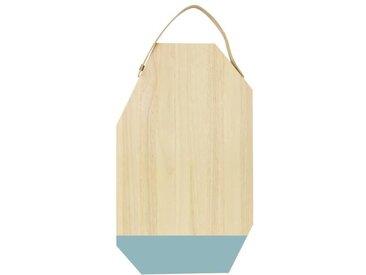 ECO DESIGN A1531 Planche à découper avec manche Dippo en cuir - 30 x 50 cm - Naturel et bleu