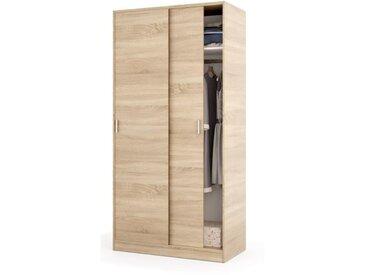 ELENA Armoire de chambre style contemporain décor chêne canadien - L 100 cm