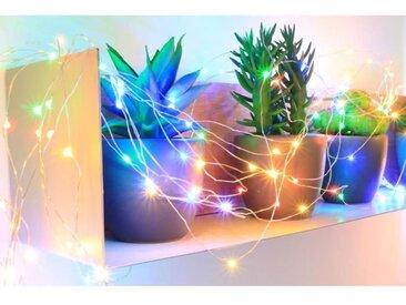 Guirlande micro-LED - 7,5 m - Multicolore - 150 LED - 16 fonctions mémoire - Câble argent transparent