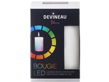 DEVINEAU Bougie Led avec flamme - Multicolore