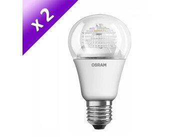 OSRAM Lot de 2 Ampoules LED E27 6 W équivalent à 40 W blanc chaud dimmable variateur