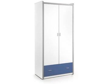 BONNY Armoire de chambre enfant style contemporain bleu - L 101 cm