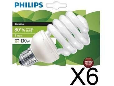 PHILIPS Lot de 6 Ampoules fluo-compacte 23W E27