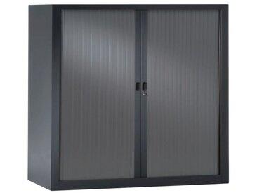 PIERRE HENRY Armoire de bureau JOKER style industriel - Métal gris anthracite - L 90 x H 100 cm