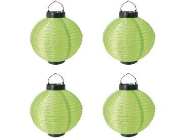 Lot de 4 Lampions solaires verts