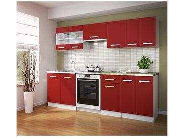 ULTRA Cuisine complète avec plan de travail L 2m40 - Rouge mat