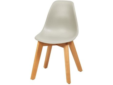 SACHA KIDS Chaise enfant - Pieds en bois hêtre naturel gris - Scandinave - L 31 x P 37 cm