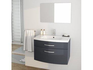 PACOME Ensemble Meubles De Salle Bain Simple Vasque Miroir L 80 Cm