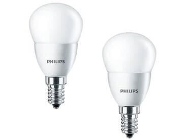 PHILIPS Lot de 2 ampoules LED E14 4 W équivalent à 25 W 2700 K