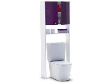 CORAIL Meuble WC ou machine à laver L 63 cm - Aubergine Laqué