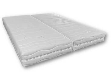 WEBED Matelas relaxation 2x90x200 - Mousse - 21 cm - Mi-ferme et équilibré - Blanc - BURGOS