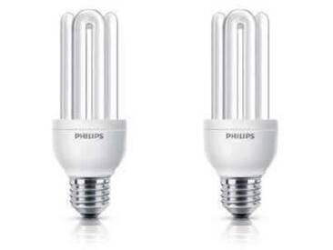 PHILIPS Lot de 2 ampoules fluo-compacte E27 18 W équivalent à 83 W