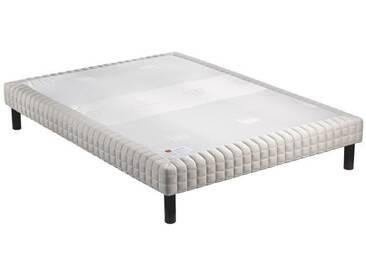 EPEDA Sommier tapissier + pieds en bois massif 160 x 200 cm - 2x16 lattes souples - MEDIUM 3 ZONES