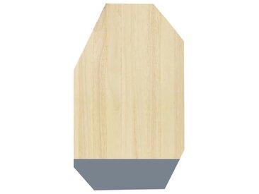 ECO DESIGN A1536 Planche à découper - 30 x 50 cm - Naturel et gris anthracite