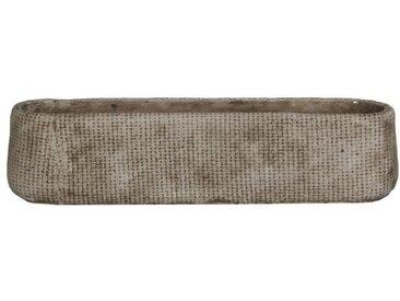 MICA Lot de 2 Cache-pots ovales Kane - Beige  - L 48 x H 11 cm
