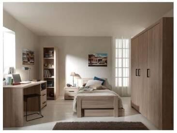 ALINE Chambre complète enfant coloris chêne clair