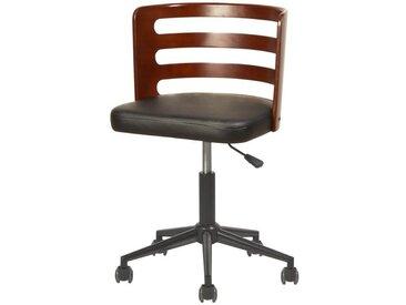 SAMANTHA Chaise de bureau - Simili noir - Style contemporain - L 46 x P 48 cm