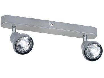 Barre de spots 2 lumières - L 13,5 x H 15 cm - Taupe