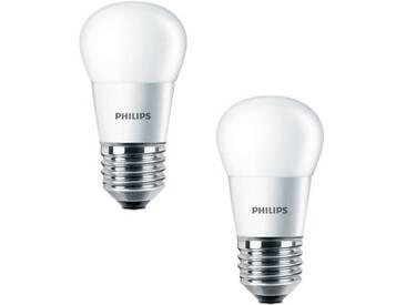 PHILIPS Lot de 2 ampoules LED E27 4 W équivalent à 25 W 2700 K