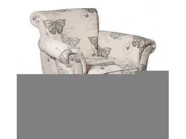 Fauteuil BRITISH tissu papillon