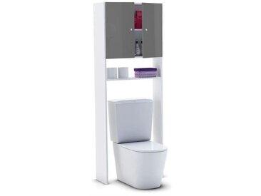 CORAIL Meuble WC ou machine à laver L 63 cm - Gris laqué