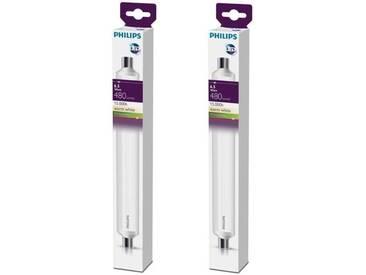 PHILIPS Lot de 2 tubes LED Linolite S19 6,5 W équivalent à 60 W