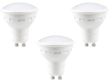 EXPERT LINE Lot de 3 ampoules LED Spot GU10 4 W équivalent à 30 W blanc chaud compatibles variateur